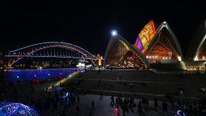 Harbour Bridge and Opera House Lit during Vivid 2016 © 2016 Daniel W. Slocum/SlocumMedia